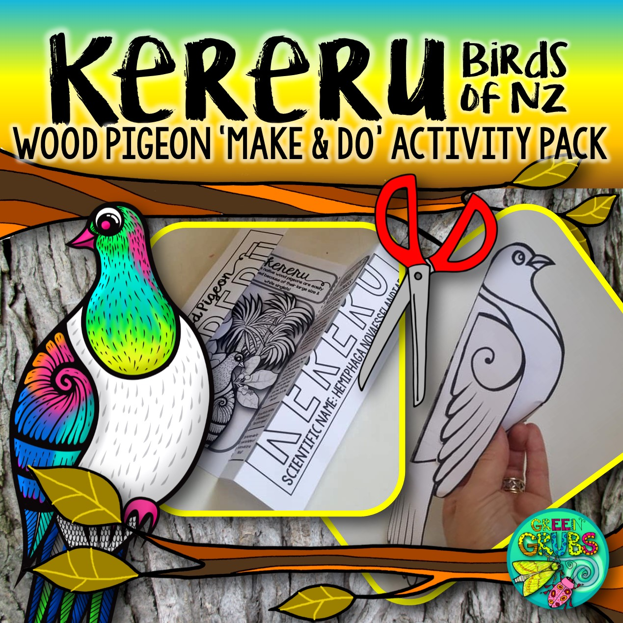 Kereru New Zealand Wood Pigeon Make Amp Do Activity Pack