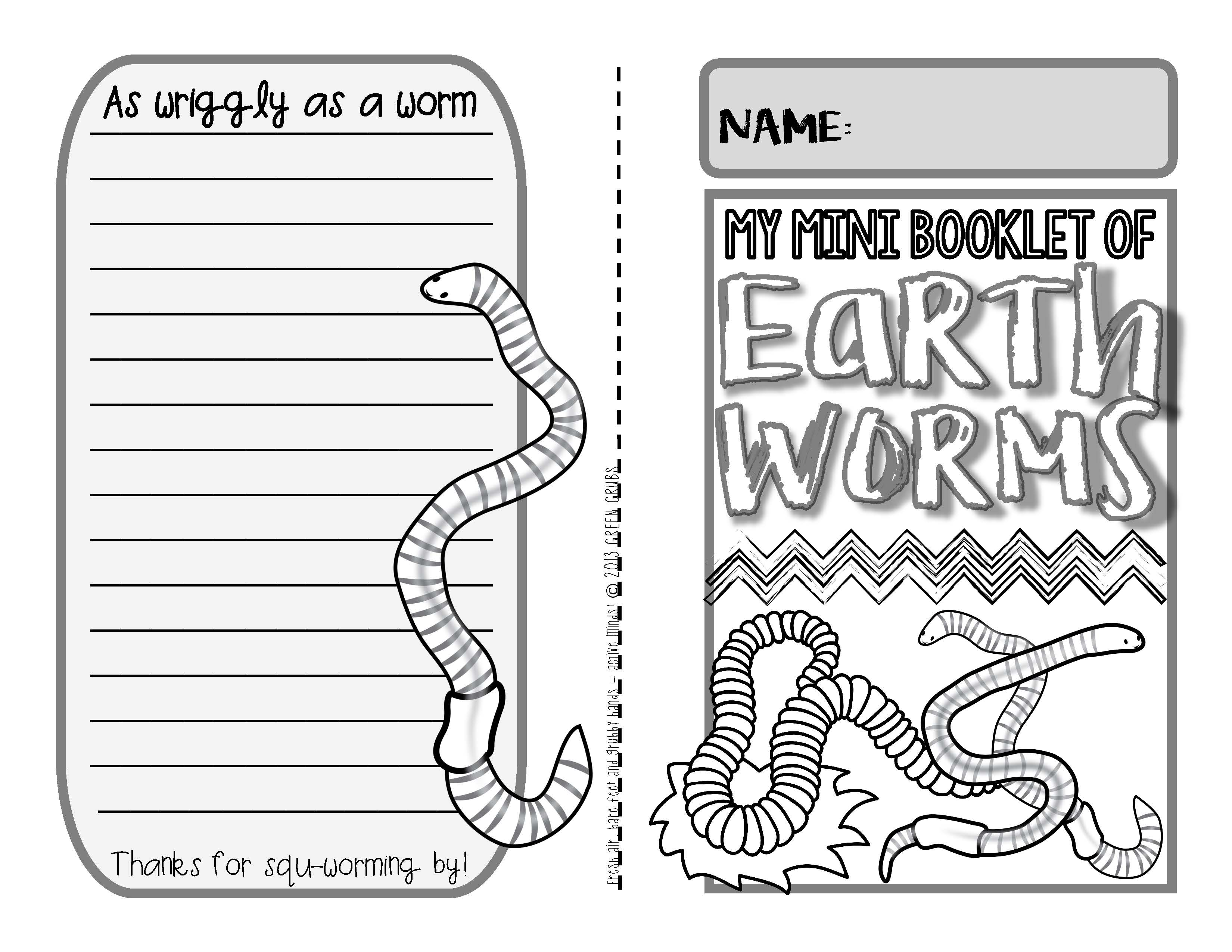 Worms A Booklet Of Activities Celebrating Earthworms