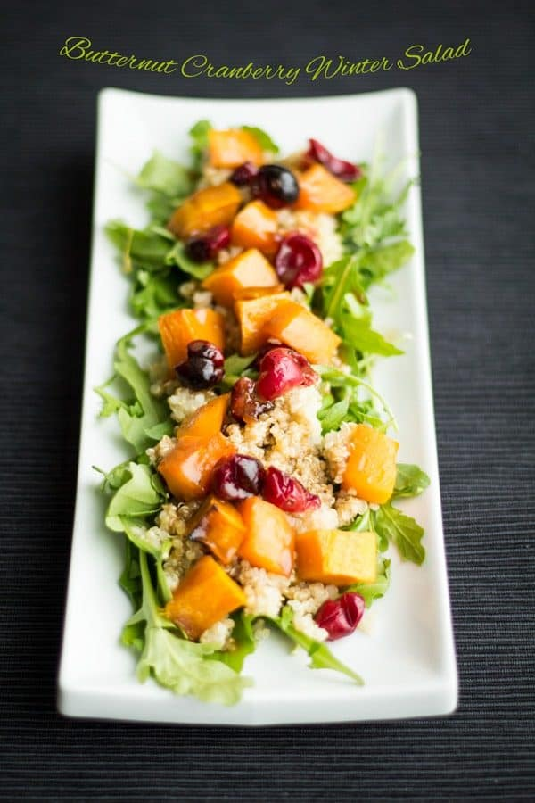 Butternut Cranberry Winter Salad