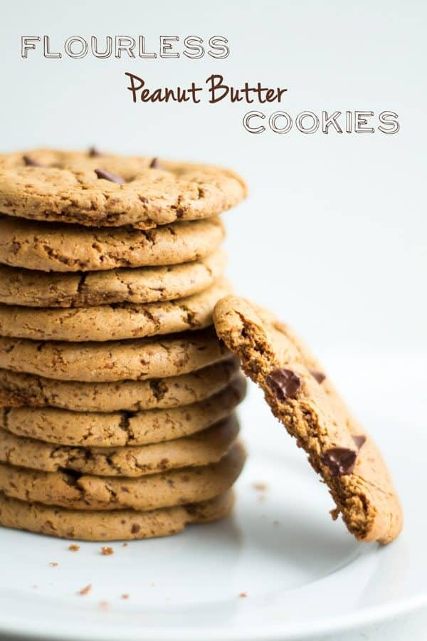 Stacked Flourless Peanut Butter Cookies