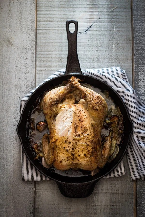 You want a crispy and juicy and literally skillet-licking delicious Easy Roast Chicken for dinner? Look no further. You found a fool-proof recipe just now!