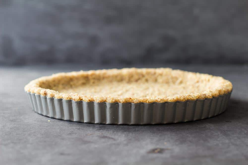 Raw gluten free quinoa pie crust.