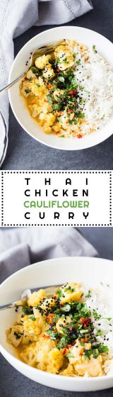 """Look at this gorgeous cauliflower, doesn't it SCREAM """"I want to becooked in a creamy yellow coconut curry so I can soak up all those amazing Thai flavors""""?"""