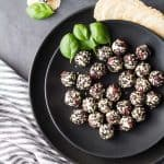 A 10 minute prep and 4 ingredient Easy Goat Cheese Appetizer suitable for any party! Dried cherries as the secret ingredient of this deliciousness!