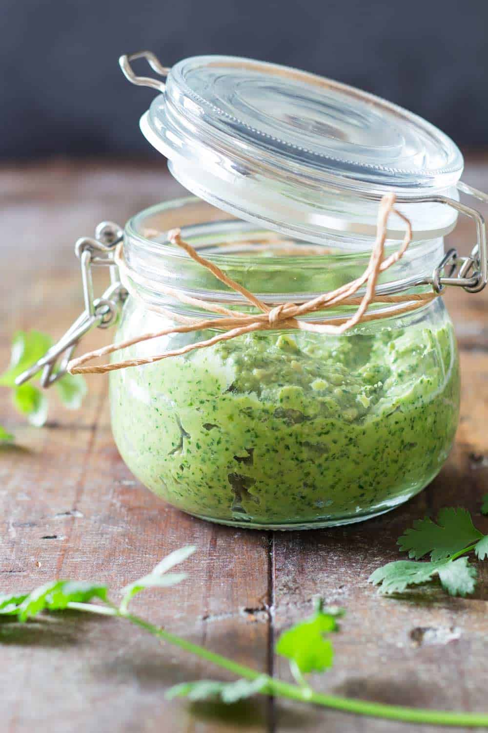 A nut-free avocado cilantro pesto choke full of nutrition and prepared in 5 minutes! Made with delicious sunflower seeds and flavorful Parmesan cheese.