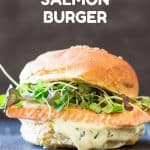 Salmon Burger with Herb Mayonnaise