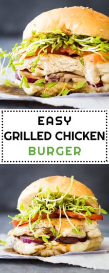 Easy Grilled Chicken Burger Pin