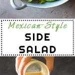 Collage of Mexican-Style Side Salad images with text overlay for Pinterest.