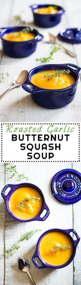This Roasted Garlic Butternut Squash Soup will convert every soup hater into a soup lover for all eternity. Yes, it is THAT good! It is one of the best soups I have ever created.