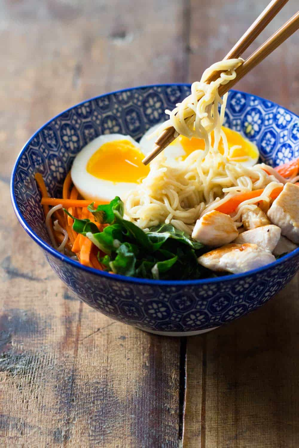 15-minute chicken ramen soup - green healthy cooking