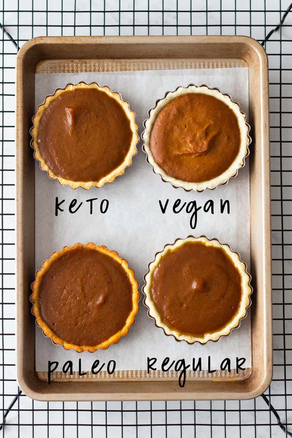 """Healthy"" means a different thing for everybody. Why not be the nicest host ever and have a healthy pumpkin pie for everybody? Vegan Pumpkin Pie, Paleo Pumpkin Pie, Keto Pumpkin Pie and Regular Healthy Pumpkin Pie."