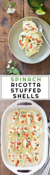 In search of a super filling, healthy, quick and easy to prepare dish perfect for any time of the year? How about Spinach Ricotta Stuffed Shells! A pasta recipe to print and save forever!