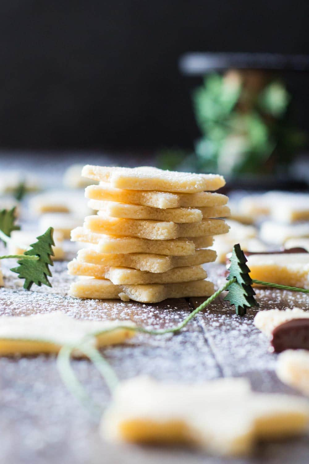 These are the most amazing melt-in-yout-mouth 2 Ingredient Almond Cookies you will try in your life! Almond flour, maple syrup, a cookie cutter and go!