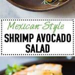 Shrimp, avocado, tomato, arugula and grapefruit with cilantro dressing. Imagine the flavor explosion when you take a bite of this Shrimp Avocado Salad!