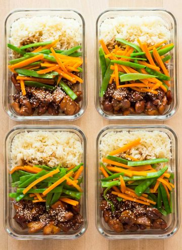 Vietnamese Chicken meal prep bowls