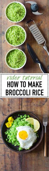 You've heard of the famous cauliflower rice, but have you ever heard of broccoli rice? It's equally - if not more - delicious and here is how to make it.