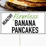 Gooood morning  sunshine! These Flourless Banana Pancakes are so fluffy and delicious they light up even the gloomiest days of all.