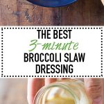Yes! The very best Broccoli Slaw Dressing EVER!!! Secret ingredients: estragon, honey and dijon mustard! Well, now they're not secret anymore ;)
