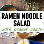 A 20-minute lunch break in winter calls for Ramen Noodle Salad with Peanut Sauce! Warm ramen noodles that need only 4 minutes of cooking, crunchy veggies, an egg, and the most delicious Peanut Sauce EVER!