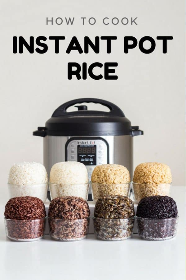 Instant Pot Rice - Instant Pot Brown Rice, Instant Pot White Rice, Instant Pot Wild Rice and more.