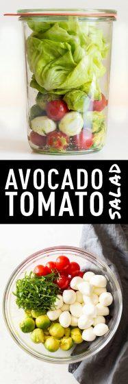 Pinnable image for Avocado Tomato Salad Recipe