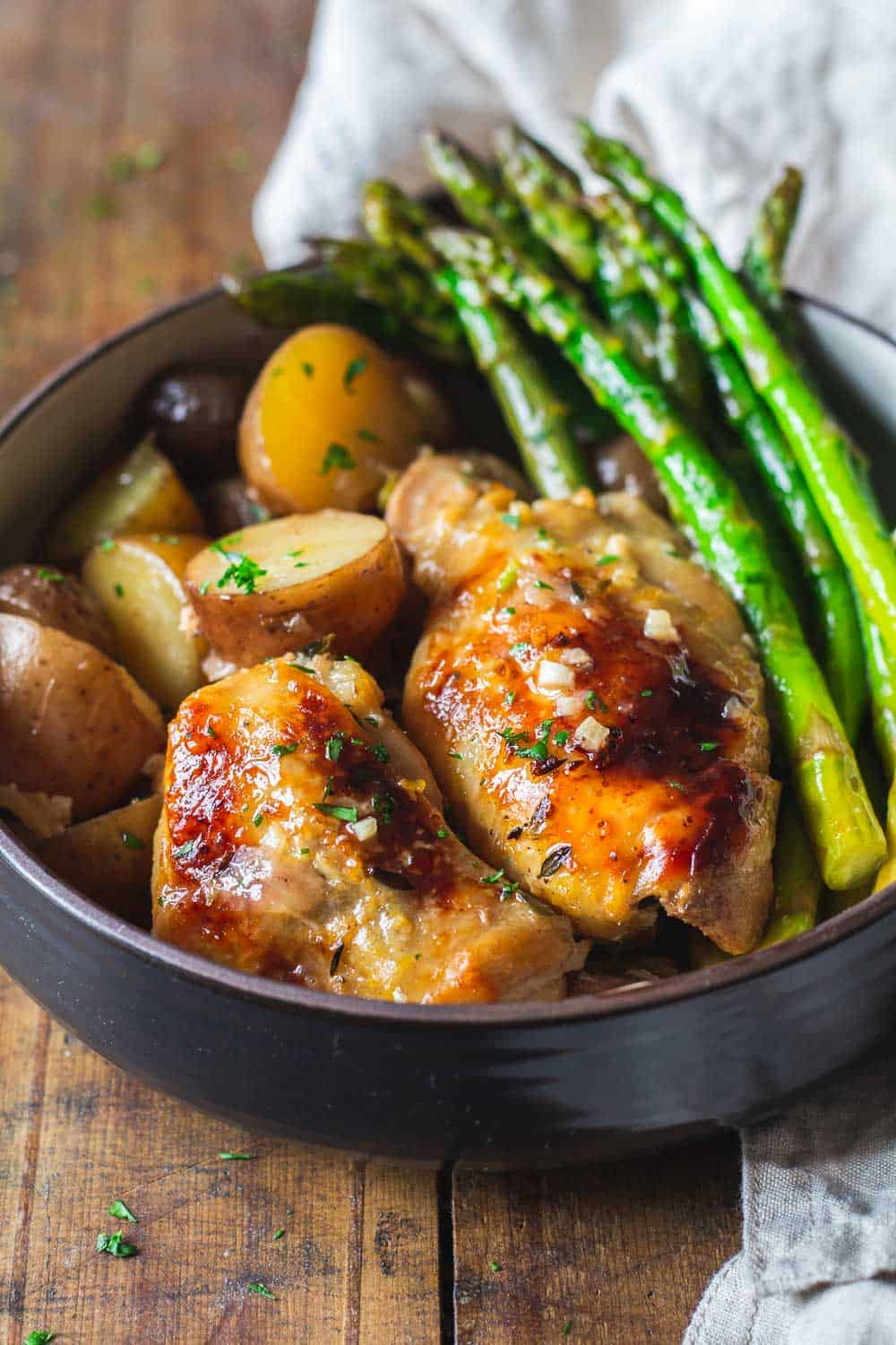 Easy Slow-Cooker Lemon Chicken - Green Healthy Cooking