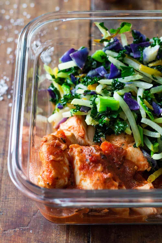 Cajun Chicken Meal Prep Bowl Closeup