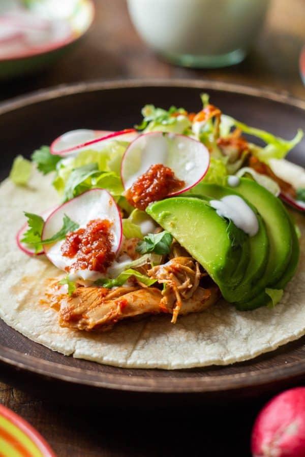 healthy chicken tacos dinner