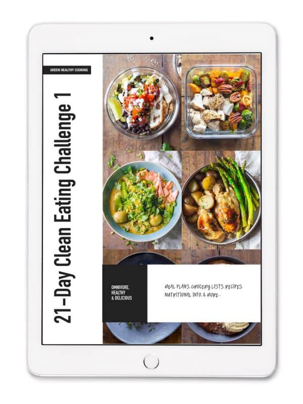 21-Day Clean Eating Challenge e-book cover.