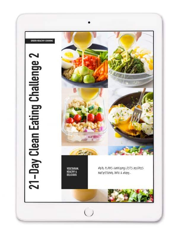 21-Day Clean Eating Challenge Vegetarian E-book Cover.