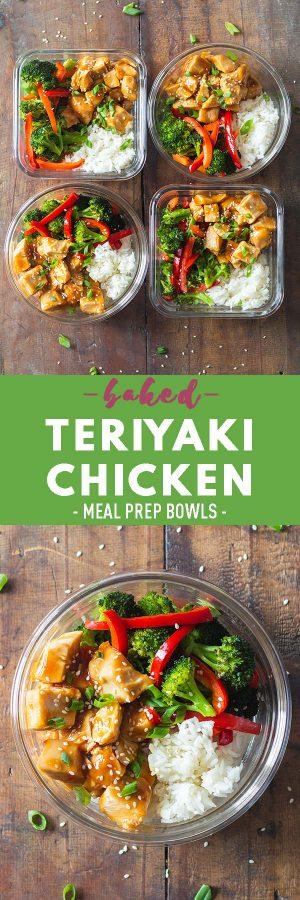 Teriyaki Chicken Meal Prep Bowls Pin