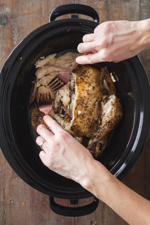Crock Pot Whole Chicken Shredded