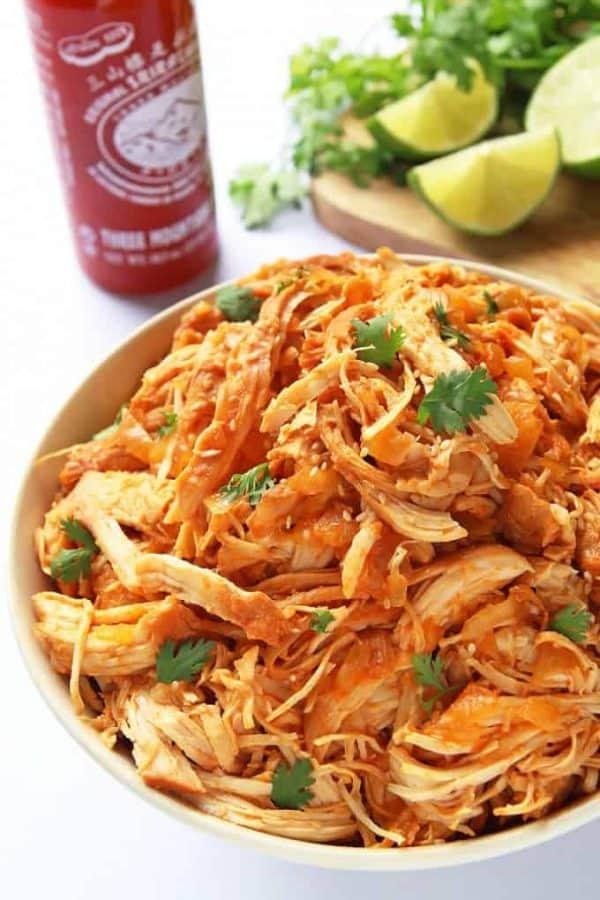 dinner of slow cooker sriracha chicken