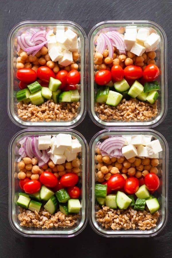 4 Vegetarian Meal Prep Bowls