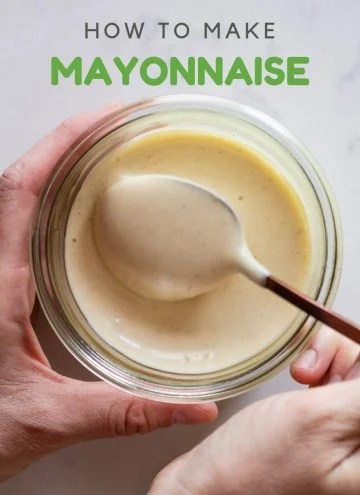 Mayonnaise in a jar