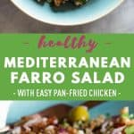Mediterranean Farro Salad Pin Collage