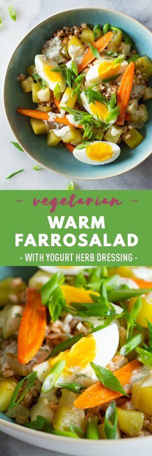 Warm Farro Salad Pin Collage Image