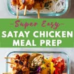 Satay Chicken Pin Collage