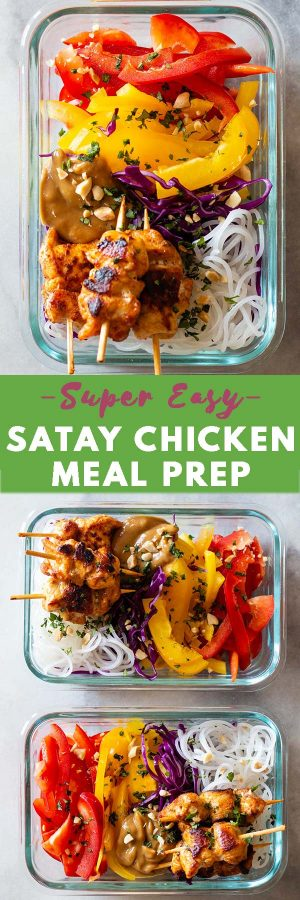 Satay Chicken Pin Collage