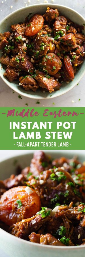 Instant Pot Lamb Stew Pin Collage