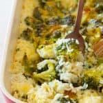 Broccoli Rice Casserole Close Up