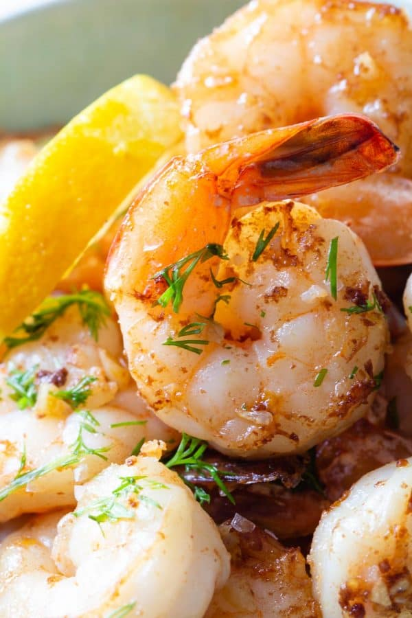 Lemon Garlic Shrimp Closeup