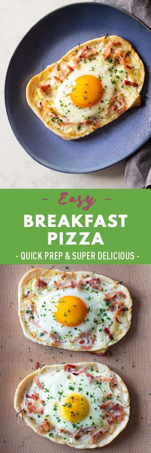 Breakfast Pizza Pin Collage