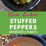 Slow-Cooker Stuffed Peppers Pin Collage