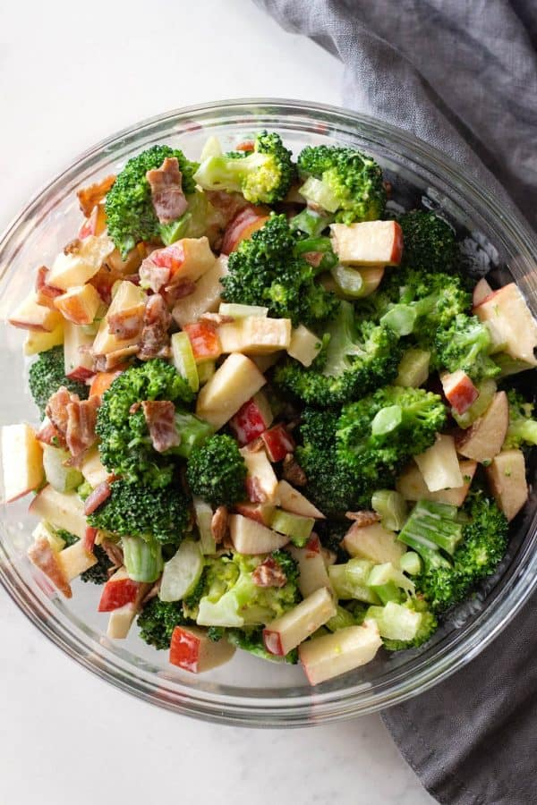 Broccoli Salad Mixed with dressing