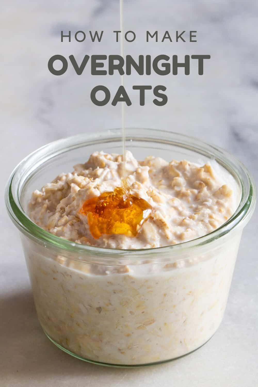 Overnight Oats with honey