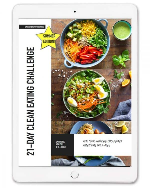 ebook cover 21-Day Clean Eating Challenge Summer Edition