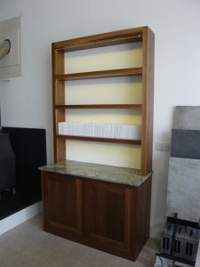 Shelves and cupboard
