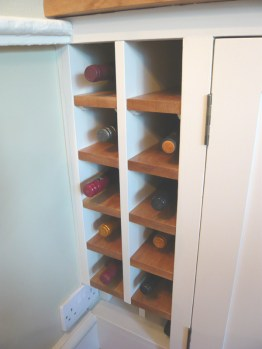 Howe wine rack painted
