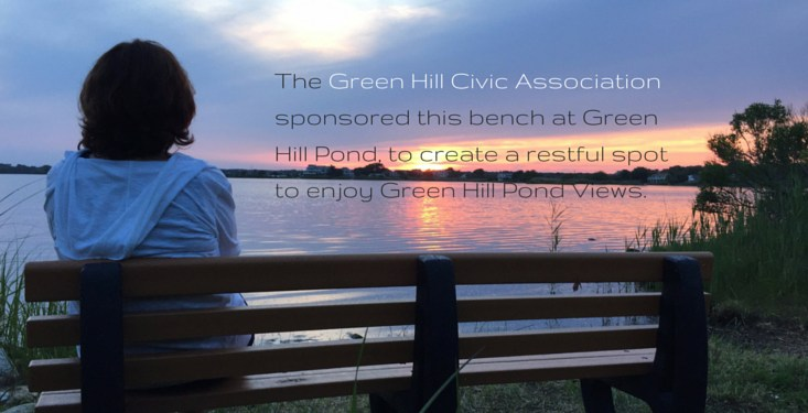 Green Hill Pond Bench